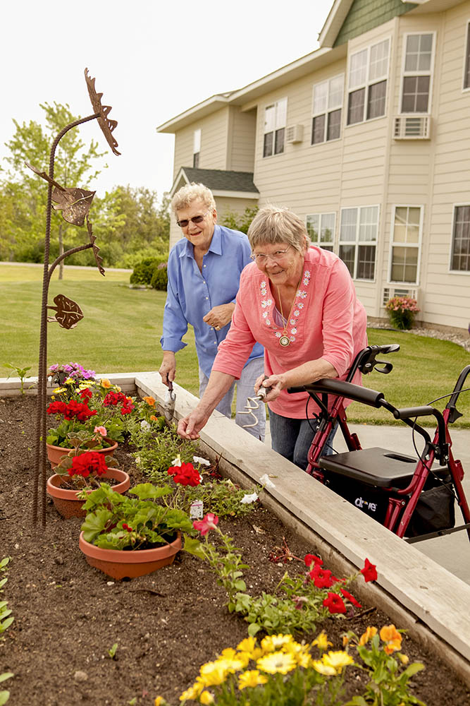 Residents have plenty of opportunity to continue with their love of gardening!